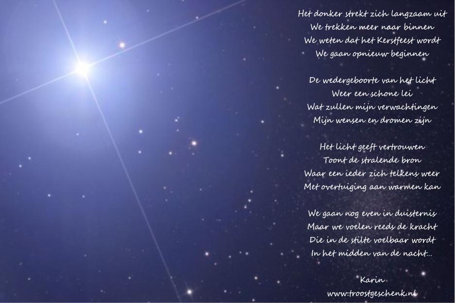 Gedicht over licht en donker