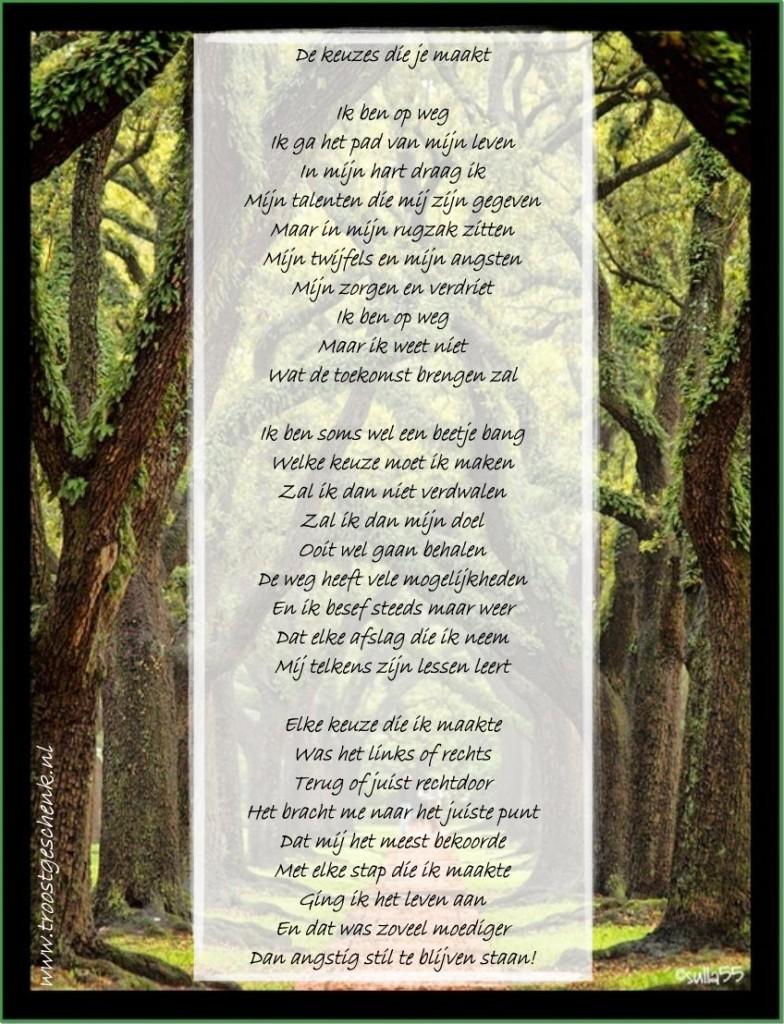 Troostgeschenk Gedicht bomen