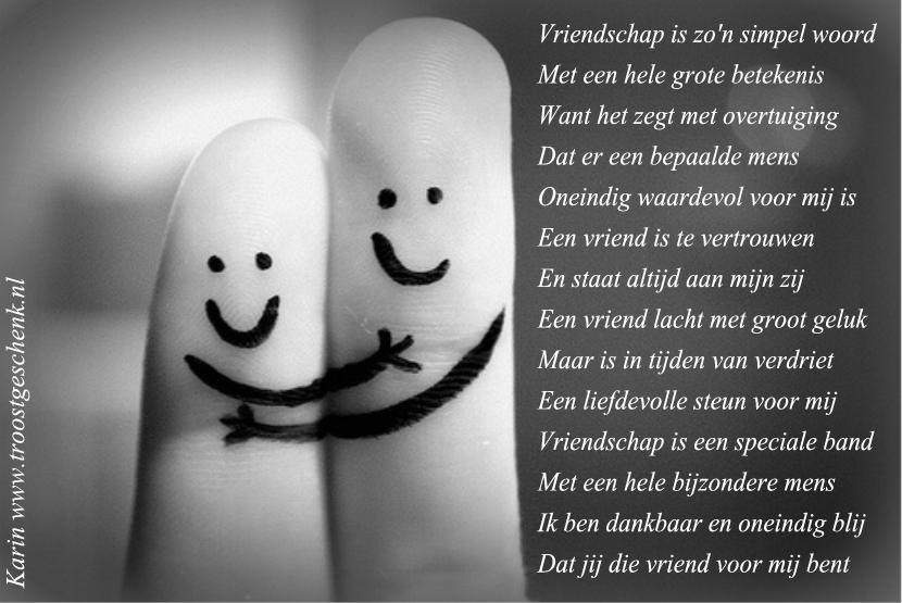 Populair Gedicht 'Vriendschap' - Troostgeschenk Blog IA25