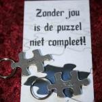 2170unique Puzzelstukje Unique zonder jou is de puzzel niet compleet Troostgeschenk