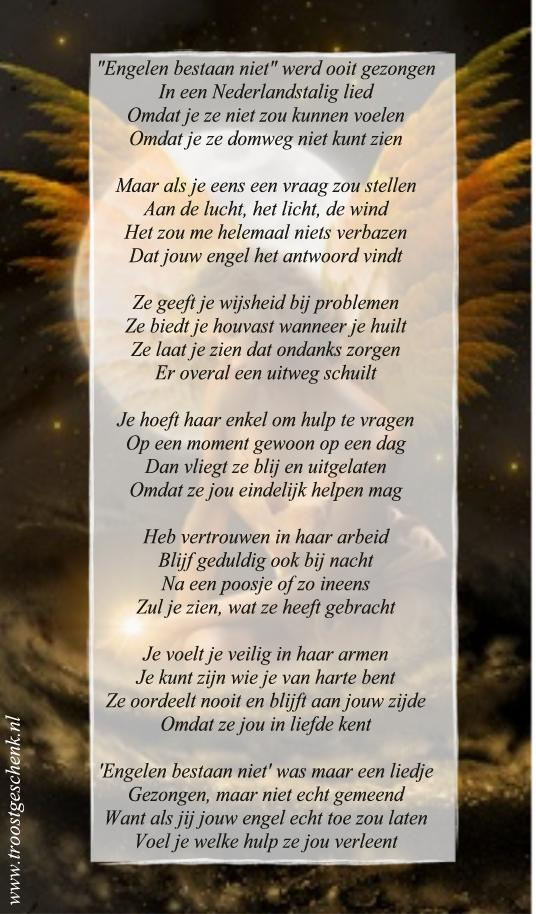 Engelen bestaan niet Gedicht Troostgeschenk