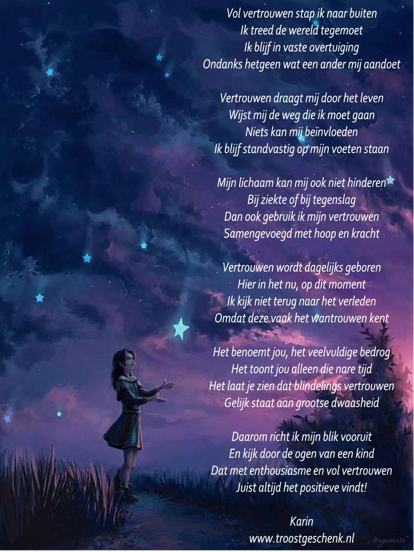 Vertrouwen Troostgeschenk Gedicht
